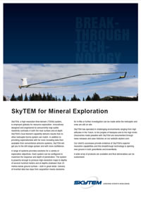 brochures about airborne geophysics, Mineral exploration surveys