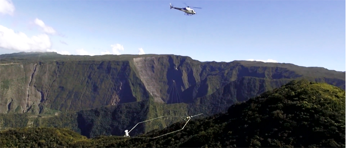 SkyTEM EM survey over Reunion Island